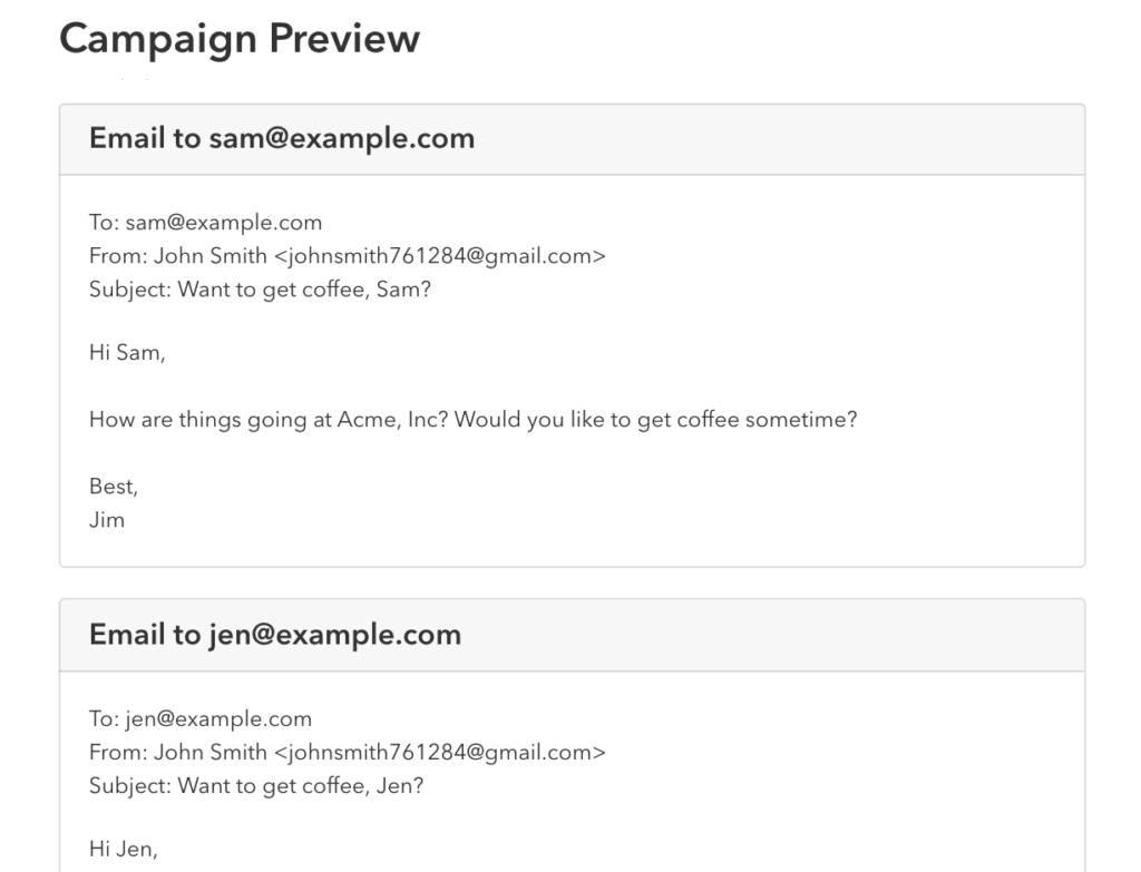 Email Previews